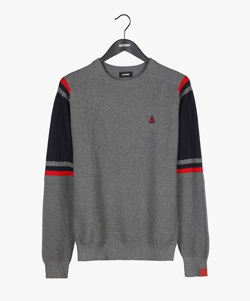 2002-BKW001-L205S | Contrast Colour Crew Neck Jumper