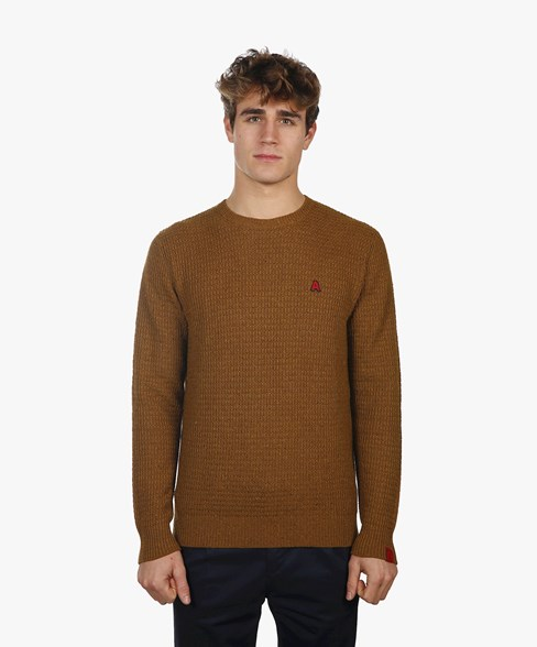 2002-BKW003-L204S | Knitted Crew Neck Jumper