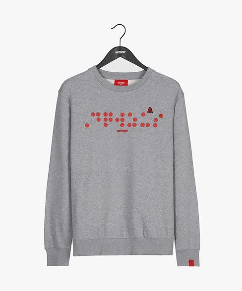 BSW017-L008 | Braille Crew Neck Sweatshirt