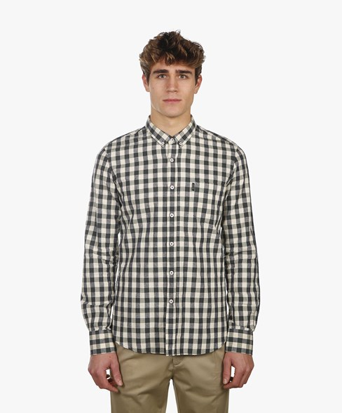 BSH007K-C487 | Linen Check Shirt
