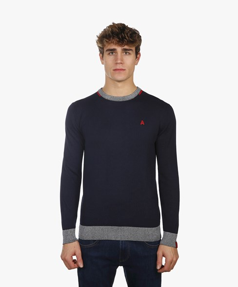 BKW001-L205S | Contrast Colour Crew Neck Jumper