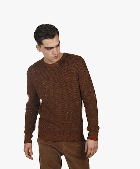 BKW051-L209 | Neppy Yarn Crewneck Knit