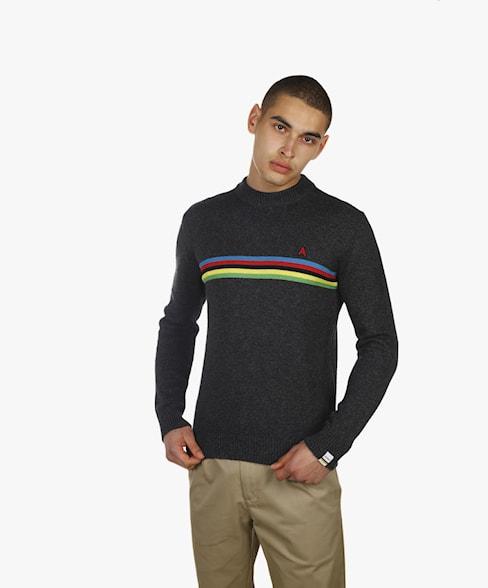 BKW057-L208 | Striped Detail Knit
