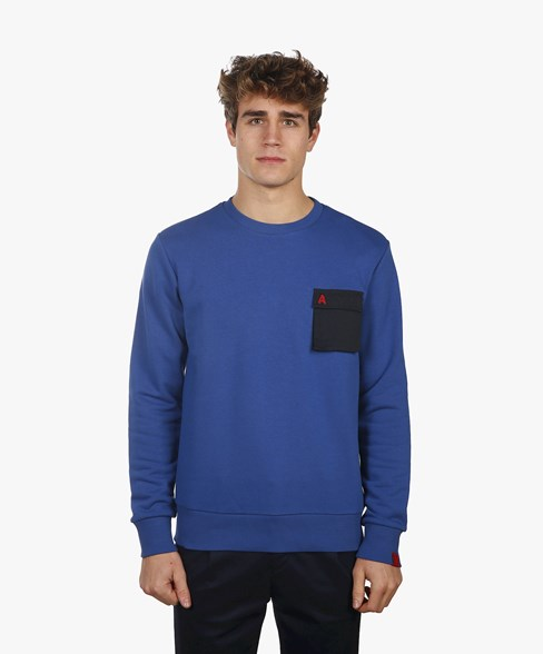 BSW007-L008 | Crew Neck Sweatshirt With Pocket