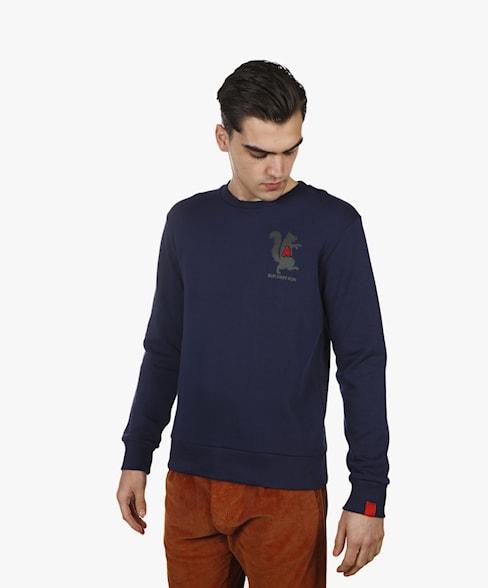 BSW064-L008 | Reflective Squirrel Crewneck Sweatshirt