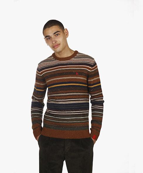 BKW050-L209 | Striped Crewneck Knit