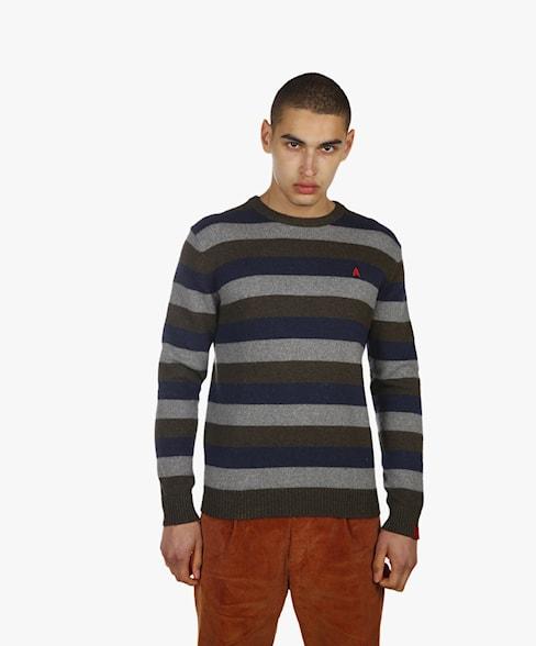 BKW055-L208 | Striped Knitwear