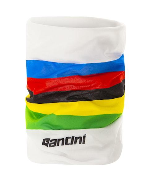 RE493--WORLD | Santini UCI Rainbow Stripes Neck Warmer