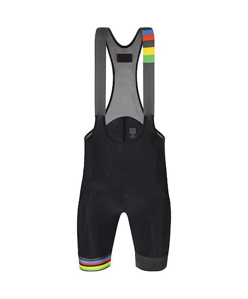 RE1075GITWORLD | Santini UCI Rainbow Stripes Bib Shorts RE1075GITWORLD