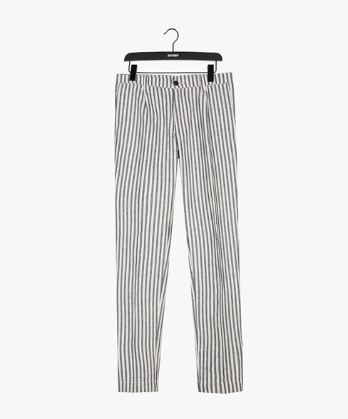 SCOTT-D205 | Striped Pleated Chino
