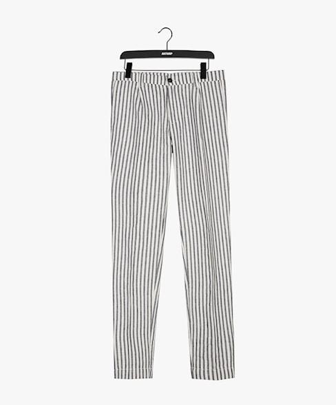 SCOTT-D205 | Striped Pleated Chino