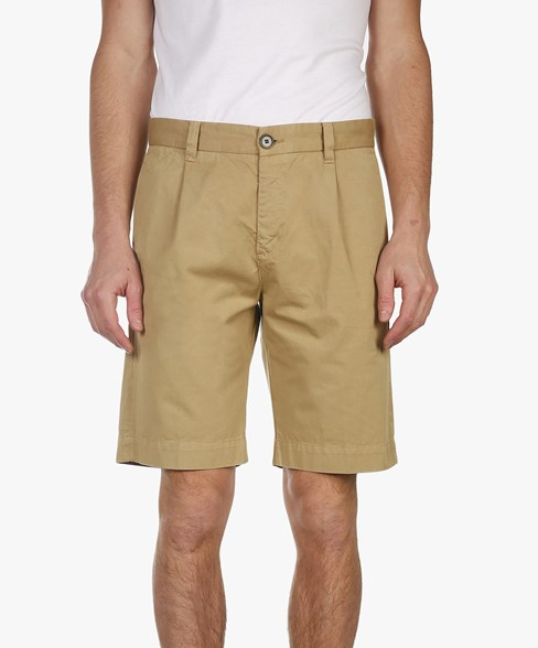 SCOTTIE-D301 | Classic Pleated Chino Shorts